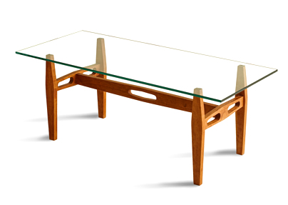 custom crafted cherry coffee table