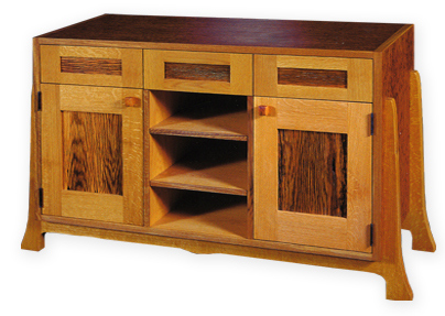 oak cabinet custom made from local wood